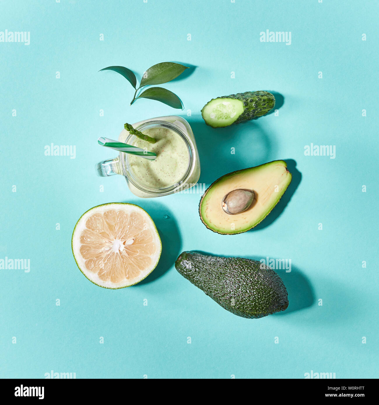 healthy diet,clean eating,green smoothie - Stock Image