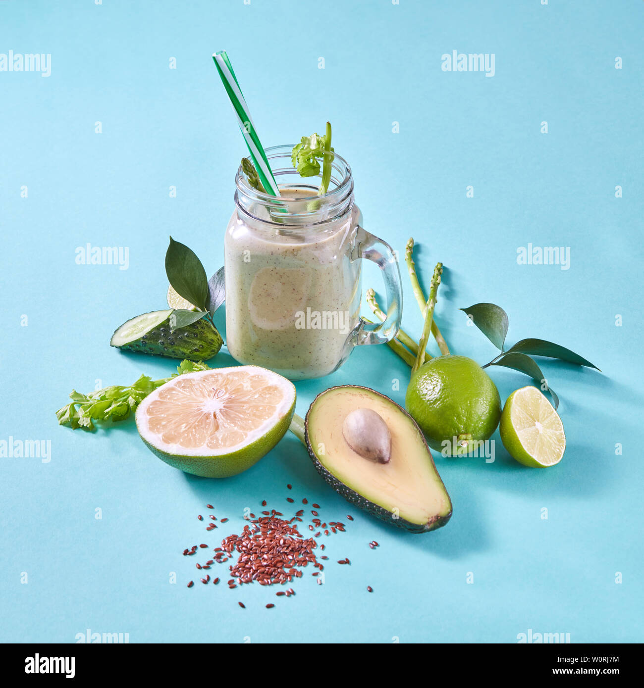 healthy diet,smoothie,clean eating - Stock Image