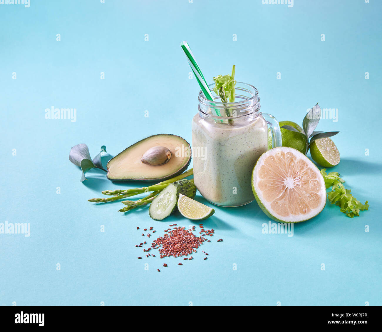 vegetarian,smoothie,clean eating - Stock Image