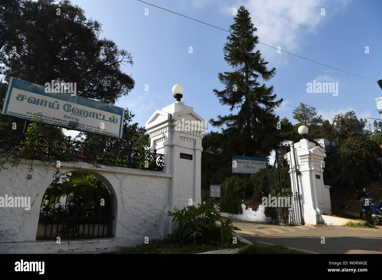 The Savoy Hotel, Ooty, India - Stock Image