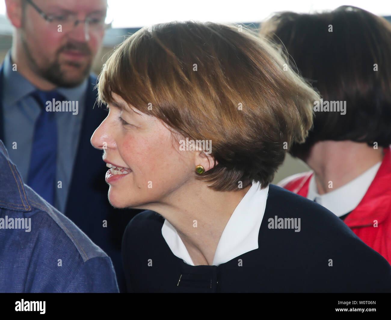 Elke Budenbender Ehefrau Von Bundesprasident Dr Frank Walter Steinmeier Beim Antrittsbesuch Am 14 02 2018 In Wolmirstedt Stock Photo Alamy
