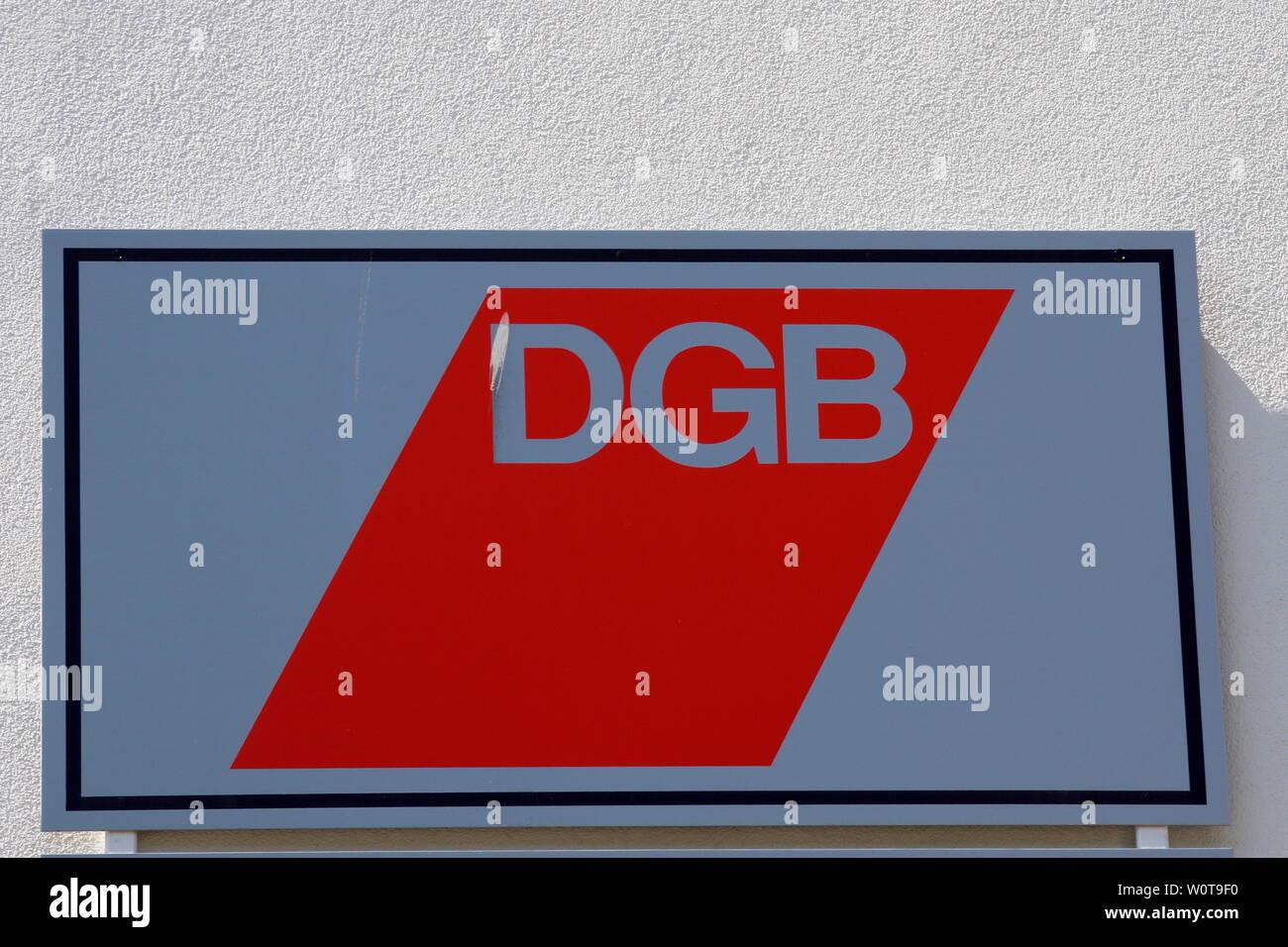 Logo DGB, Deutscher Gewerkschaftsbund -     Themenbild Geld - Money Stock Photo