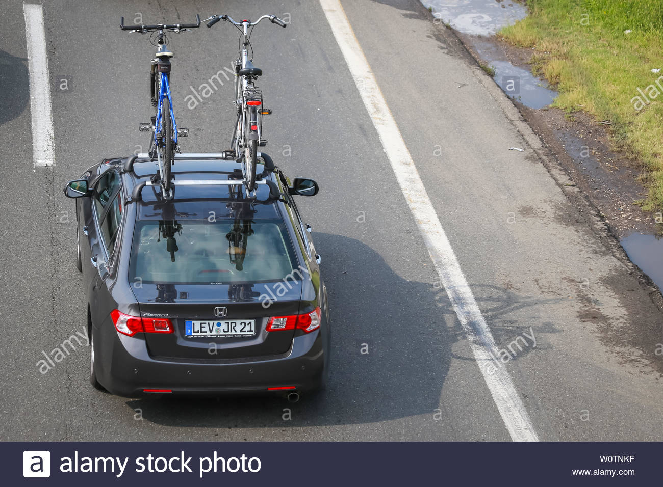 ZAGREB, CROATIA - August 11th, 2018 : Big traffic jam due to the