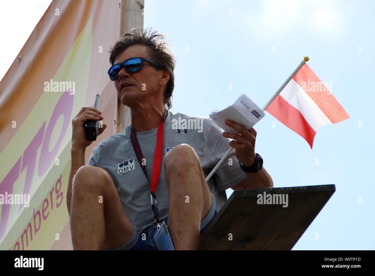 Andreas Felder, Cheftrainer Skisprung, Team Oesterreich beim Skispringen Qualifikation FIS Sommer Grand Prix 2018 Hinterzarten - Stock Image