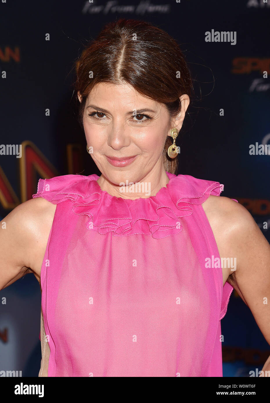 HOLLYWOOD, CA - JUNE 26: Marisa Tomei attends the premiere of Sony Pictures' 'Spider-Man Far From Home' at TCL Chinese Theatre on June 26, 2019 in Hollywood, California. - Stock Image
