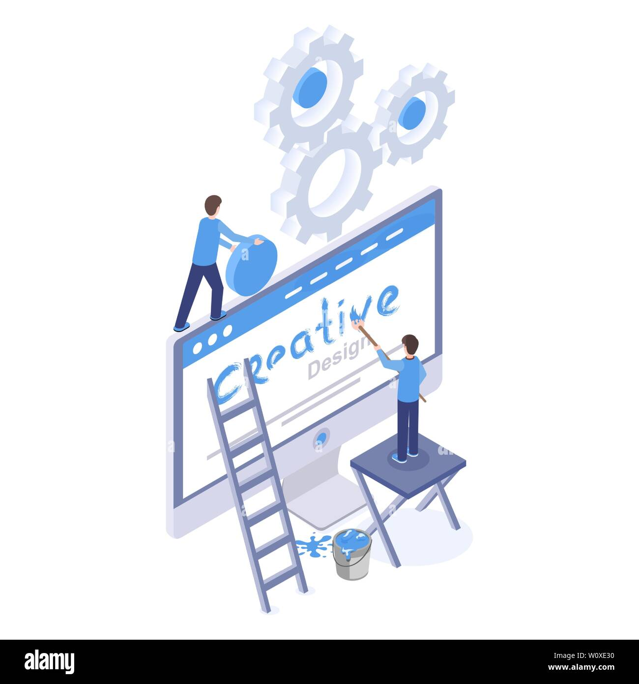 Web Design Software Optimization Isometric Illustration Graphic And Digital Designers Creating Website Homepage Mobile App Interface Isolated Clipart Ui Ux Development 3d Drawing Stock Vector Image Art Alamy