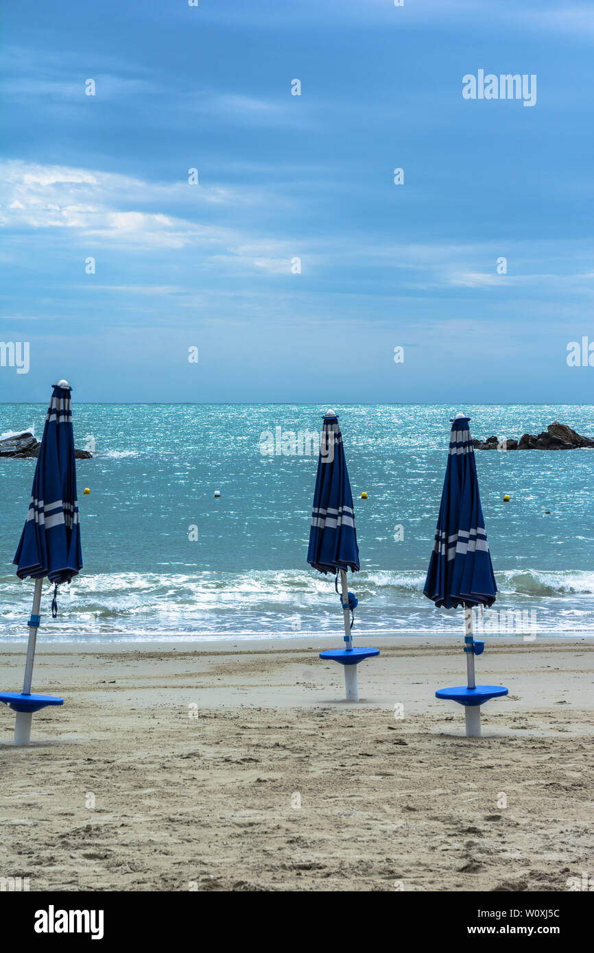 San Terenzo beach, Liguria, Italy - Stock Image