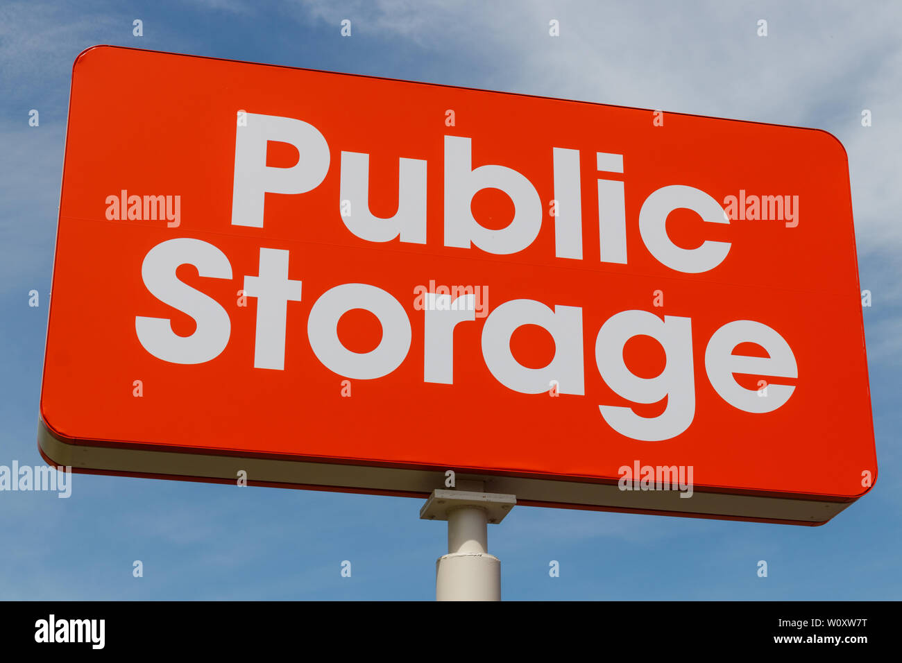 Chicago - Circa June 2019: Public Storage self storage location. Public storage is run as real estate investment trust (REIT) and provides moving serv - Stock Image