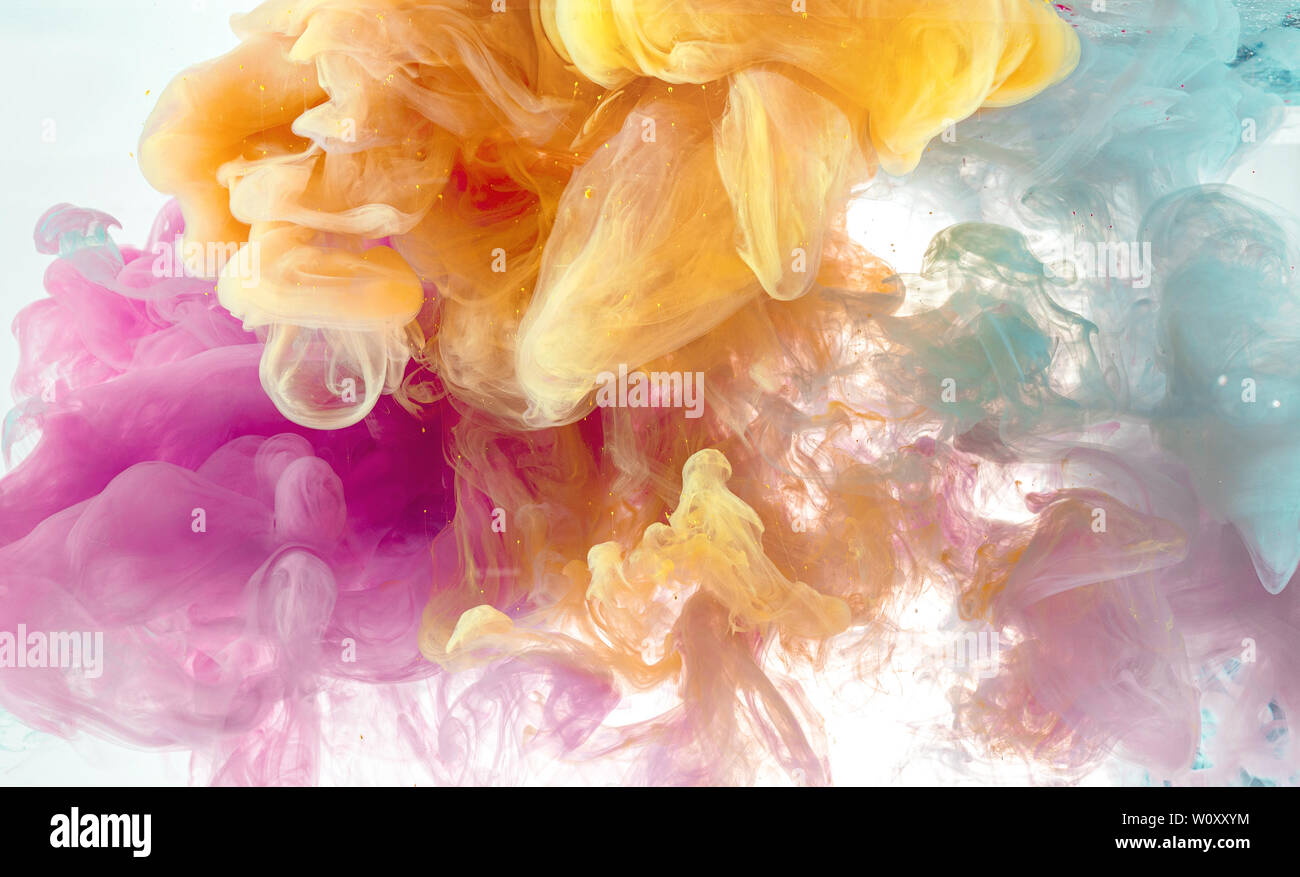 Abstract Wallpaper Background From Pastel Ink Color Mix In