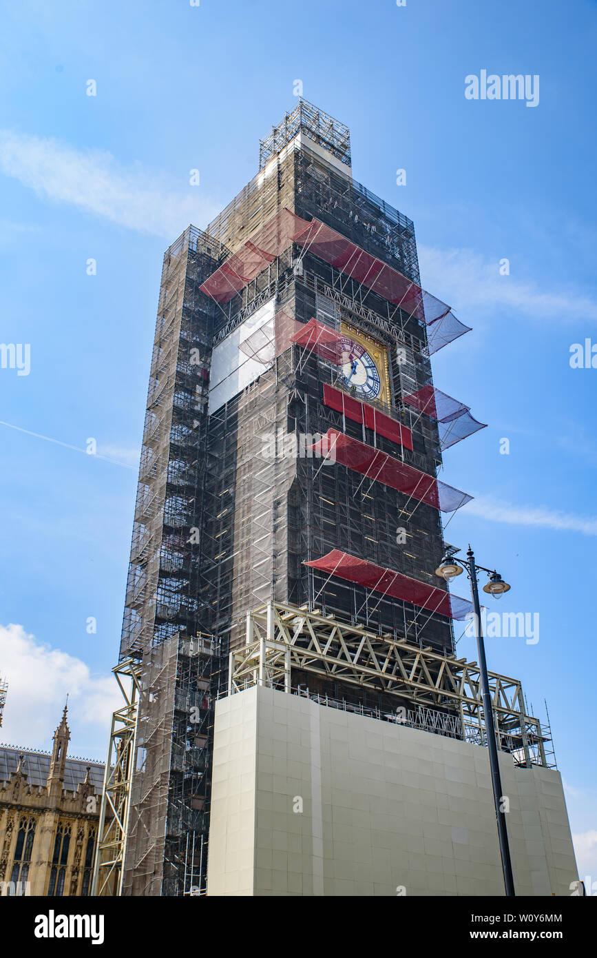 Big Ben renovation in London, United Kingdom Stock Photo