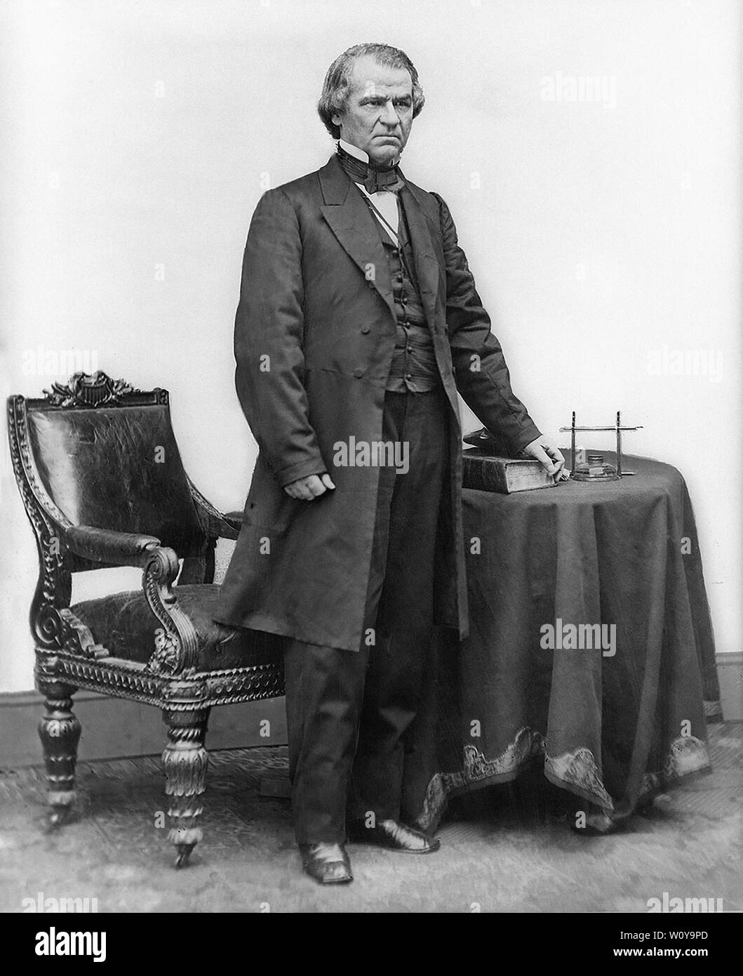 Andrew Johnson (1808-75), 17th President of the United States, Full-Length Standing Portrait, Photograph, Mathew B. Brady, Brady-Handy Collection, Washington DC, USA, 1865 - Stock Image