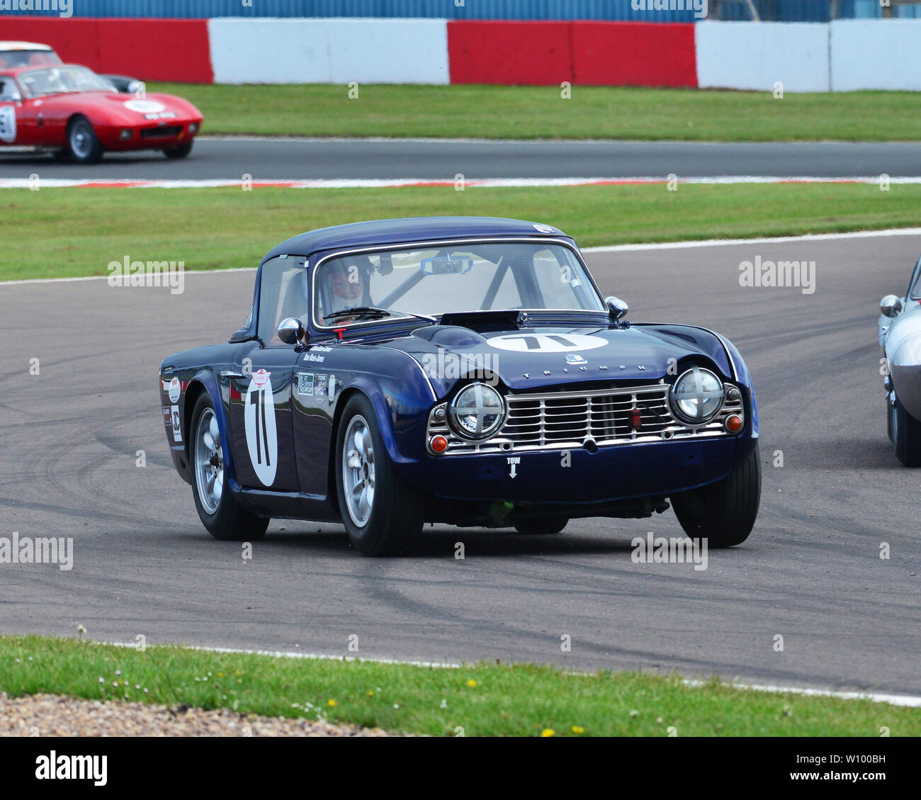 Alan Ross-Jones, Daniel Ross-Jones, Triumph TR4, GT & Sports Car Cup, Pre-66 GT Cars, Pre-63 Sports Cars, Donington Historic Festival, May 2019, motor - Stock Image