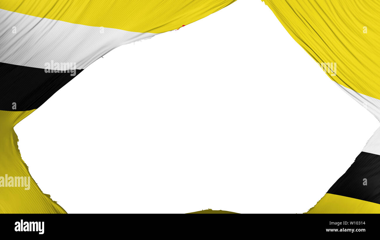 Divided Bandar Seri Begawan flag - Stock Image