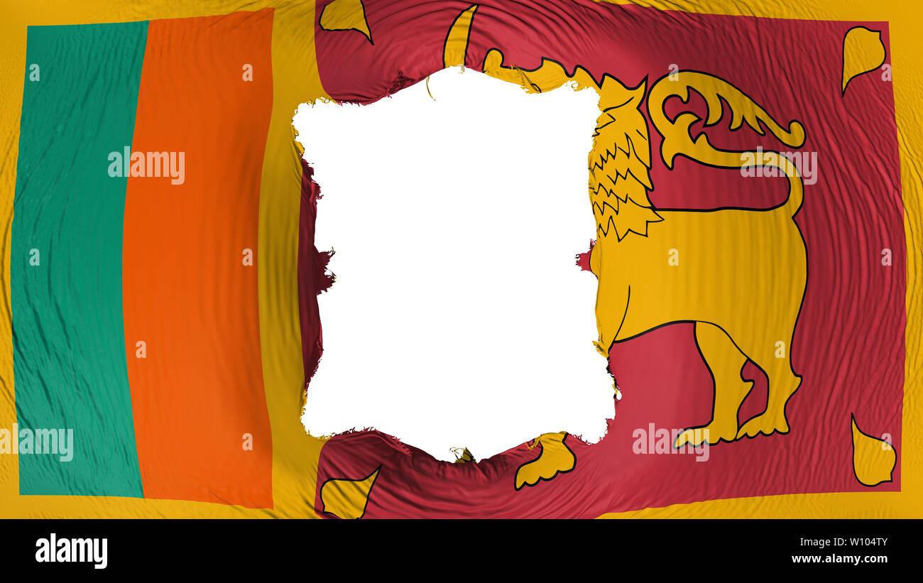 Square hole in the Sri Lanka flag Stock Photo