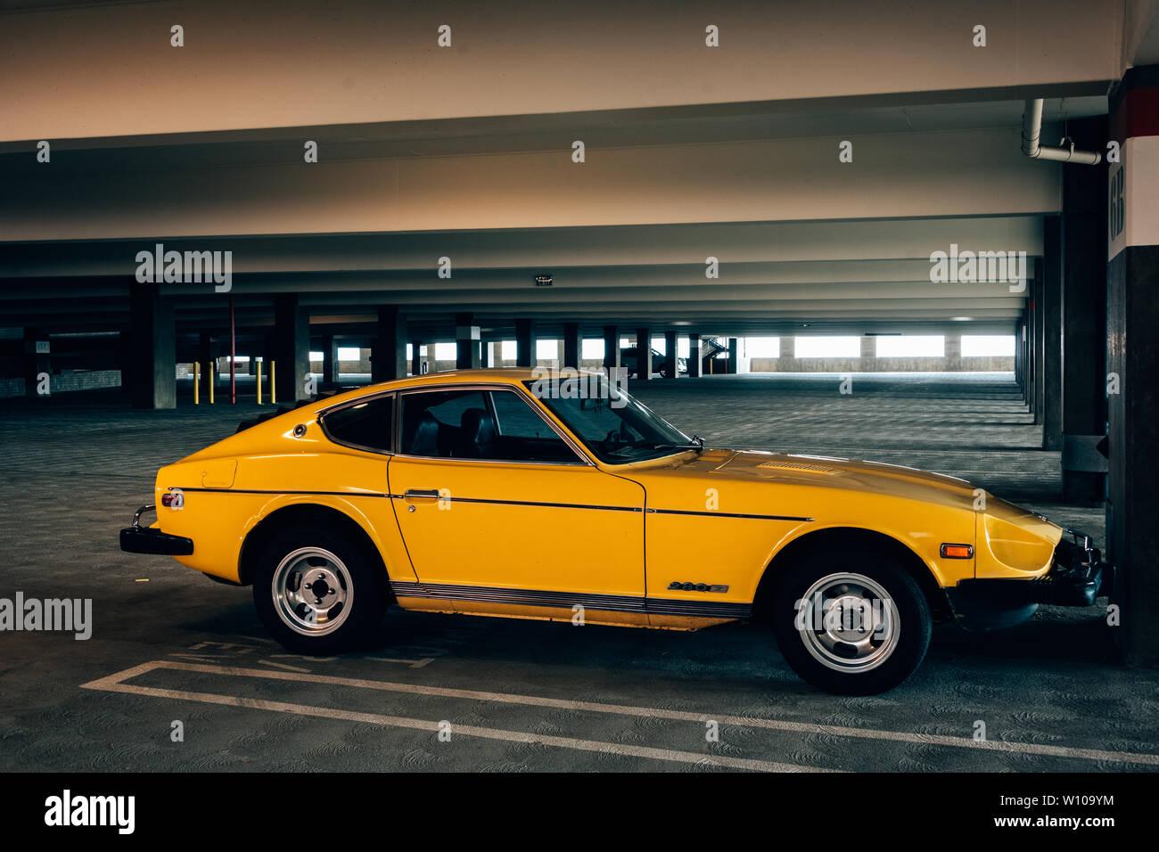 a vintage yellow nissan 280z in los angeles california stock photo alamy https www alamy com a vintage yellow nissan 280z in los angeles california image258778008 html