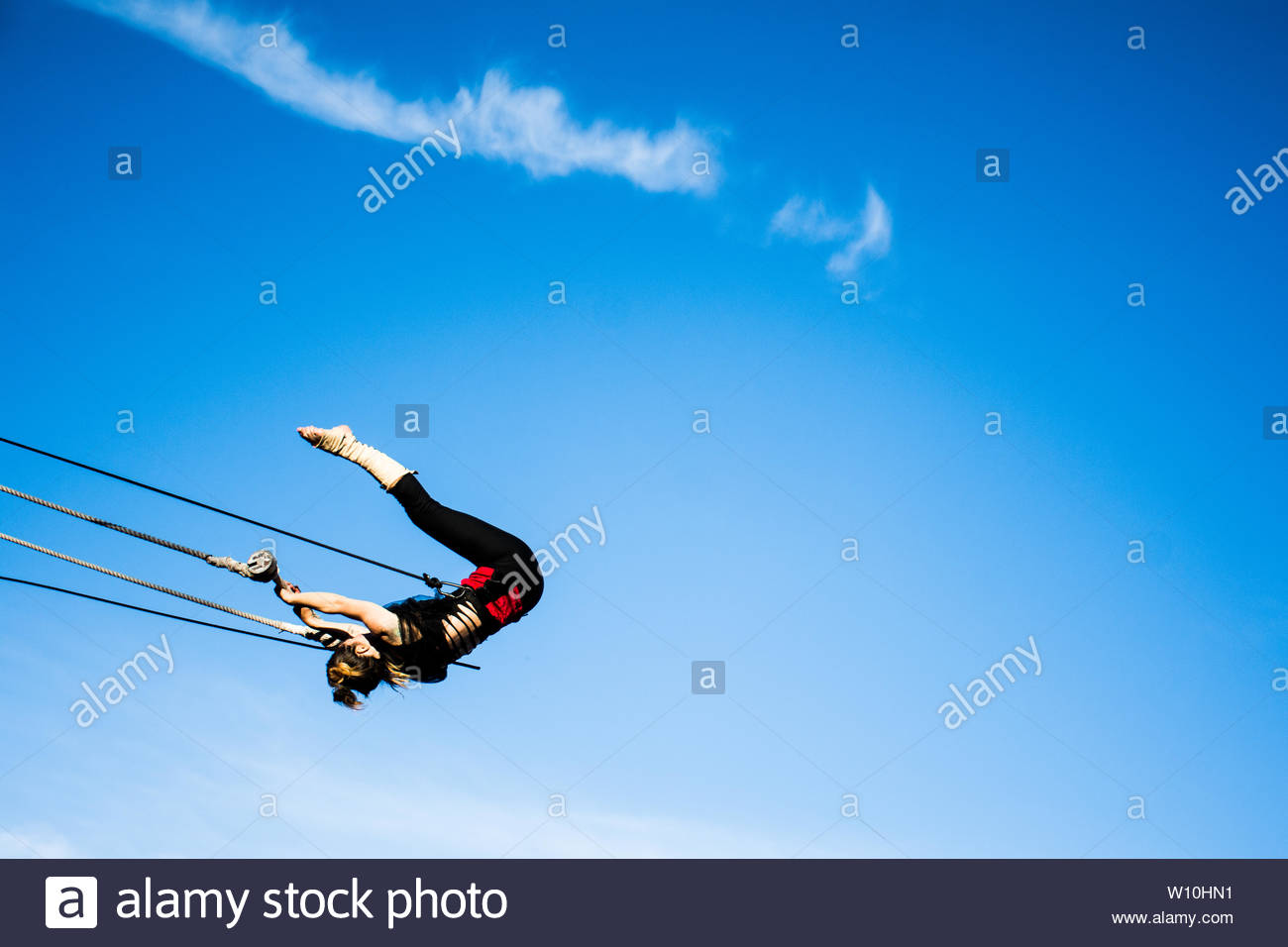 acrobat in the sky - Stock Image