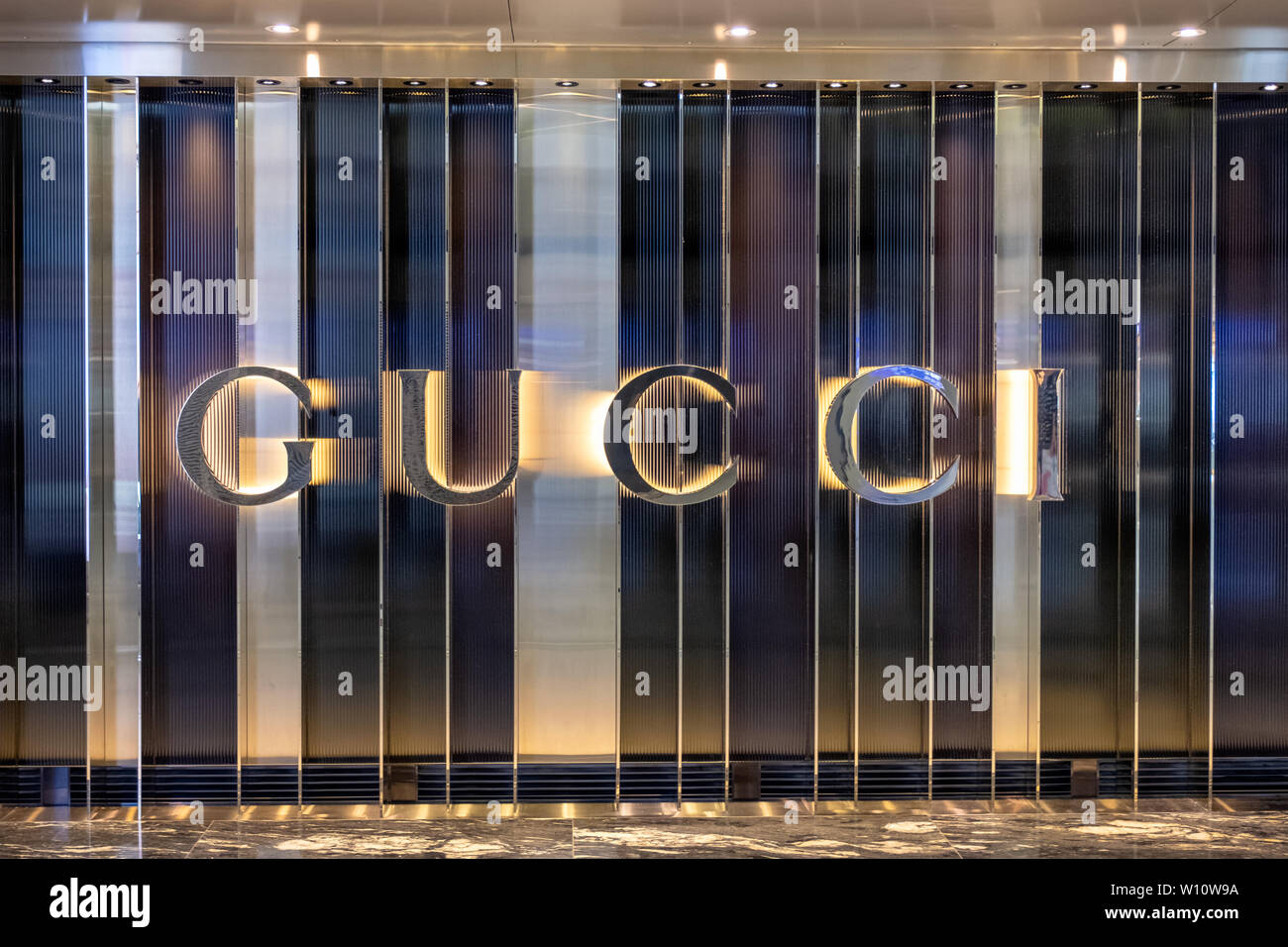 13e2500482 Hong Kong, China - May 06 2018 : Front of brand name shop GUCCI ...