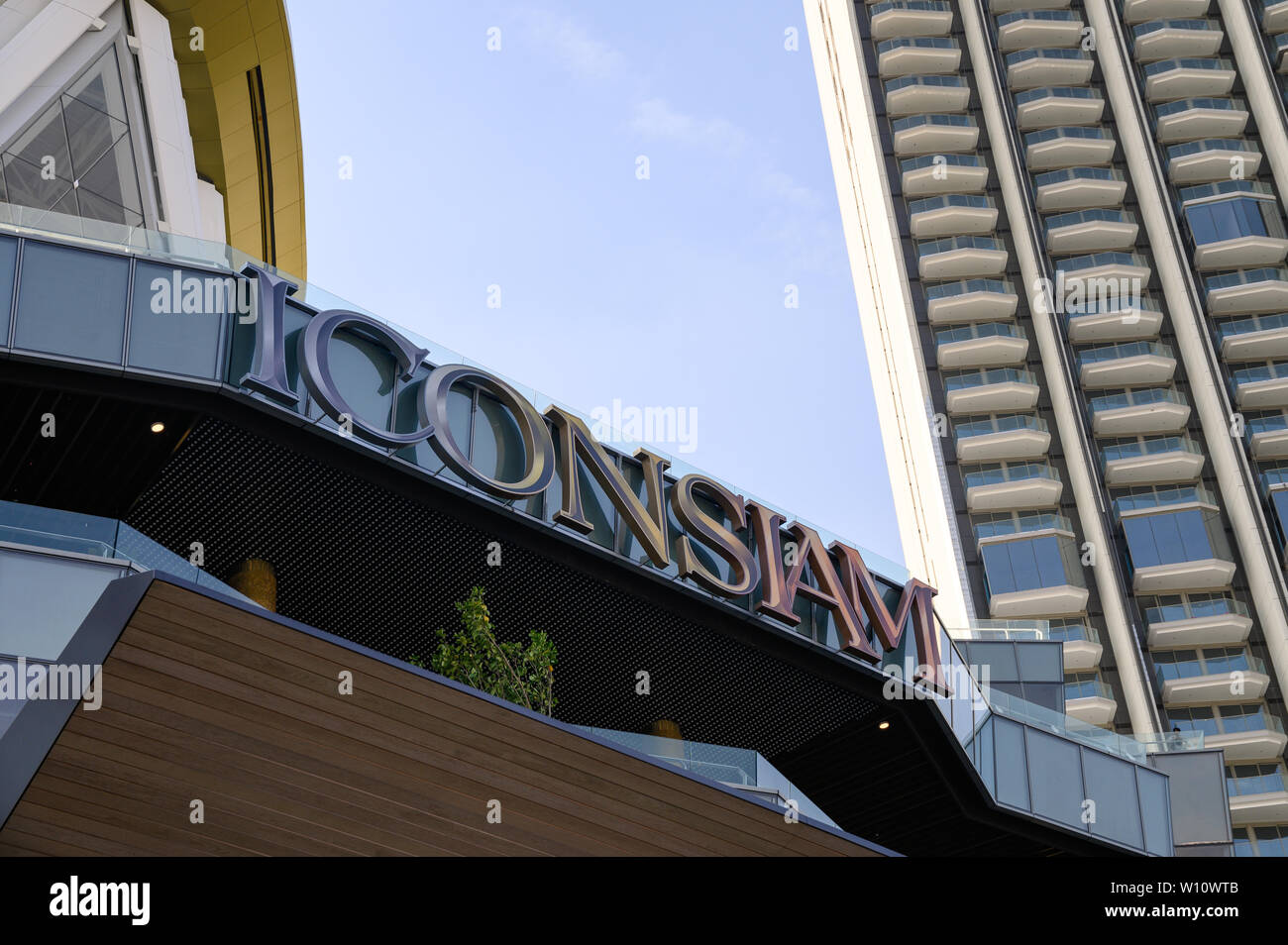 Bangkok, Thailand - Jan 31 2019 : Large project of Icon siam department store with condominium at Chao Phraya riverside - Stock Image