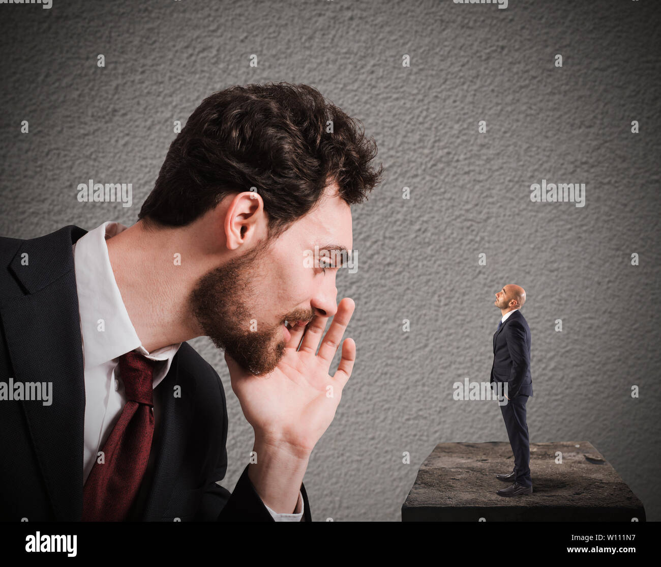 Business suggestion for work problems - Stock Image