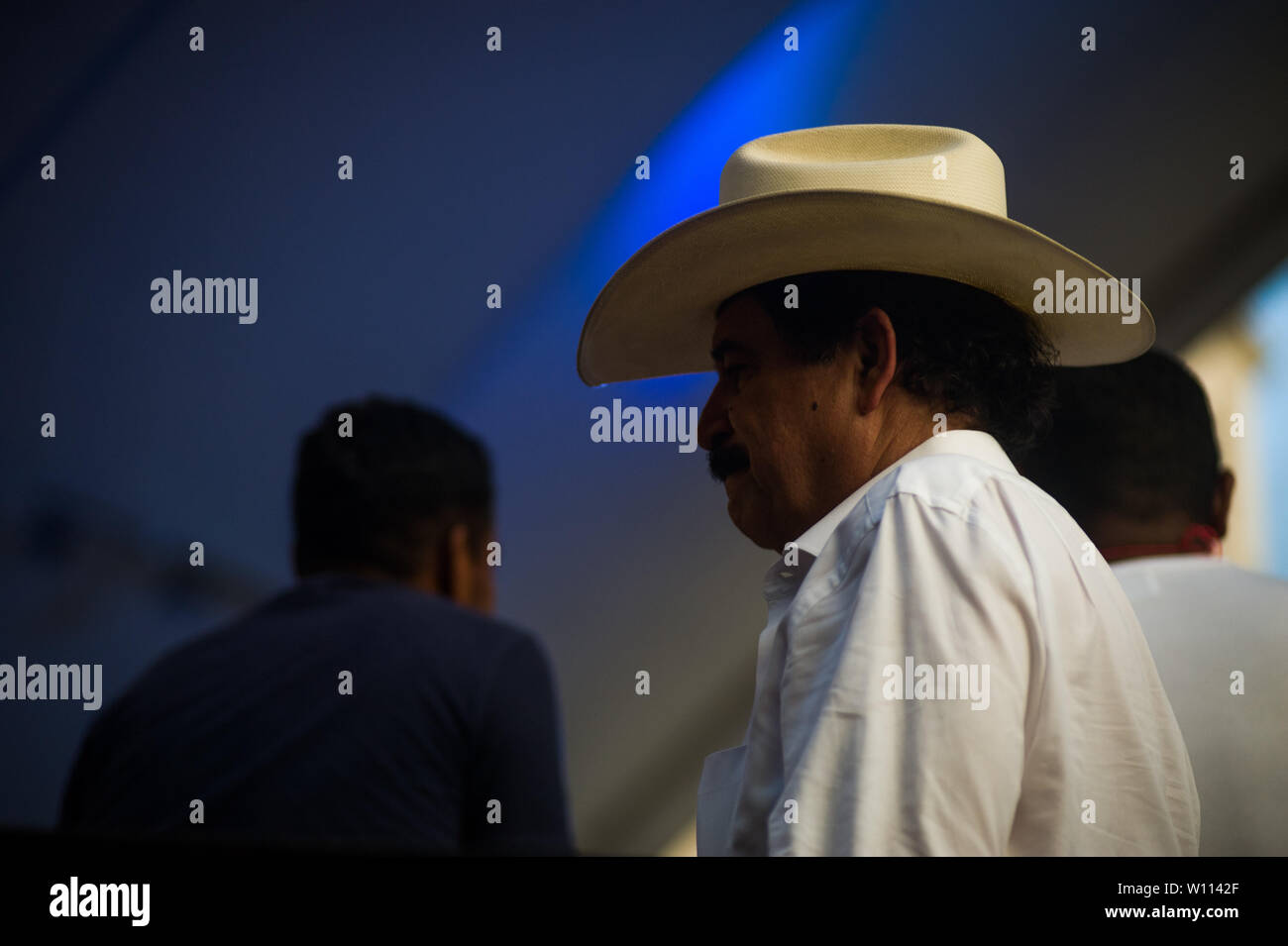 Tegucigalpa, Honduras. 29th June, 2019. Forme Honduras President MANUEL ZELAYA takes part in a concert to commemorate the 10 year coup anniversary Credit: Camilo Freedman/ZUMA Wire/Alamy Live News Stock Photo