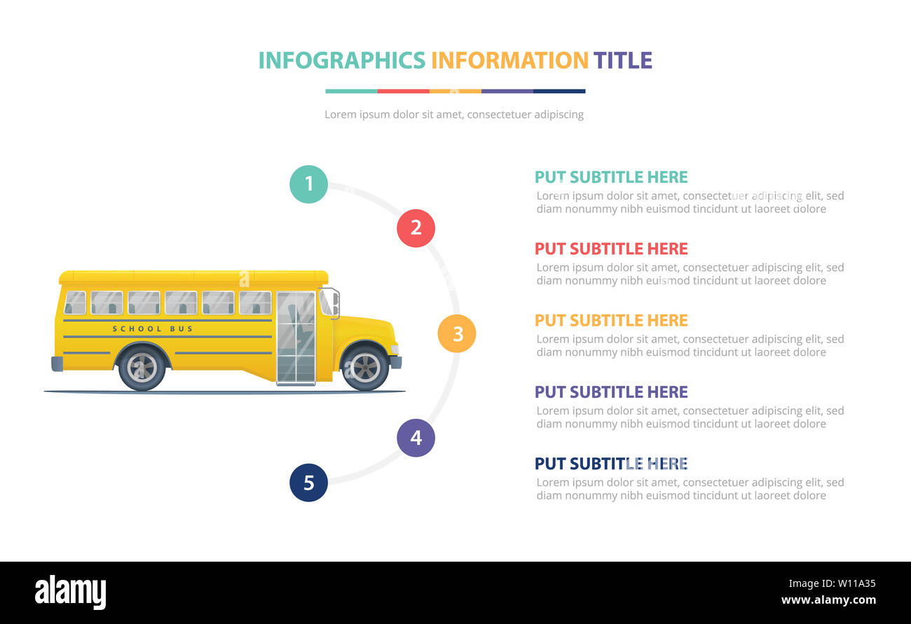 Illustration Yellow School Bus Schools Stock Photos