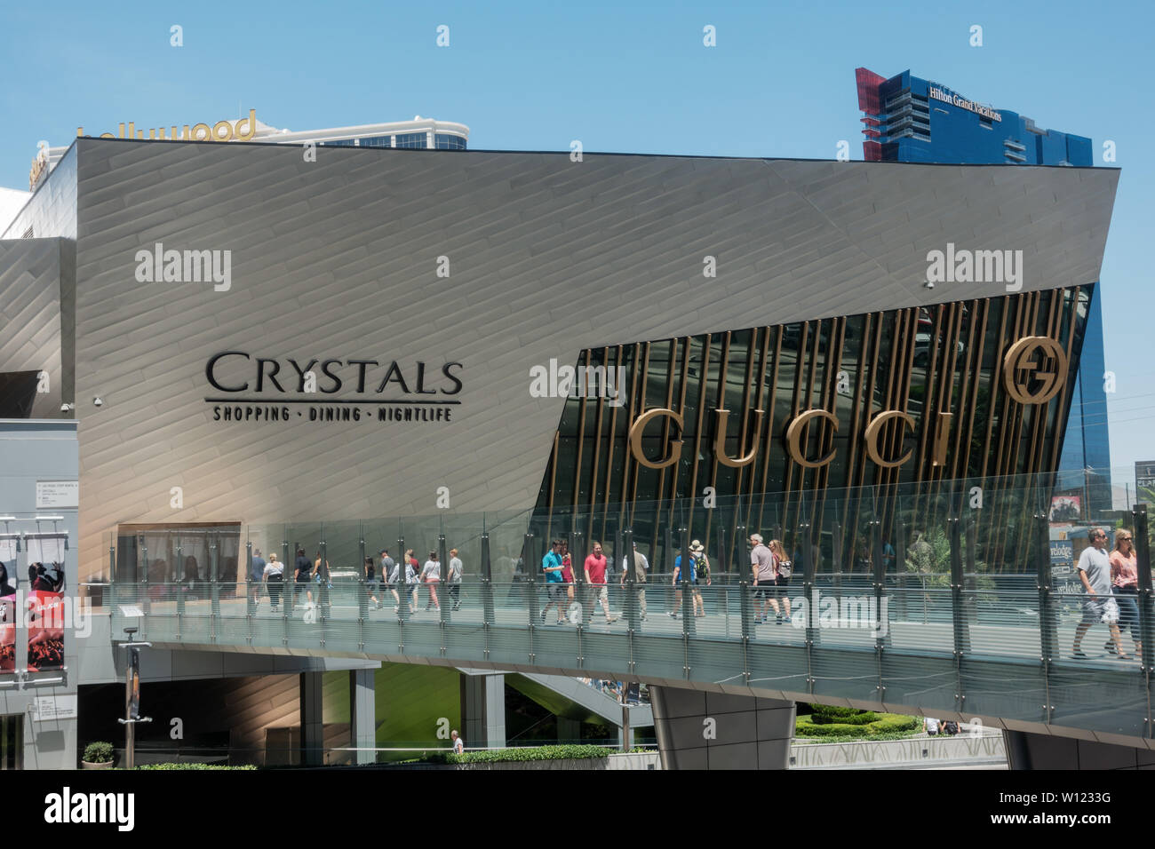 Las Vegas,AZ/USA - 6.27.2019:The Shops at Crystals, a luxury-goods shopping mall; In April 2016, Invesco and Simon Property Group purchased Crystals f - Stock Image