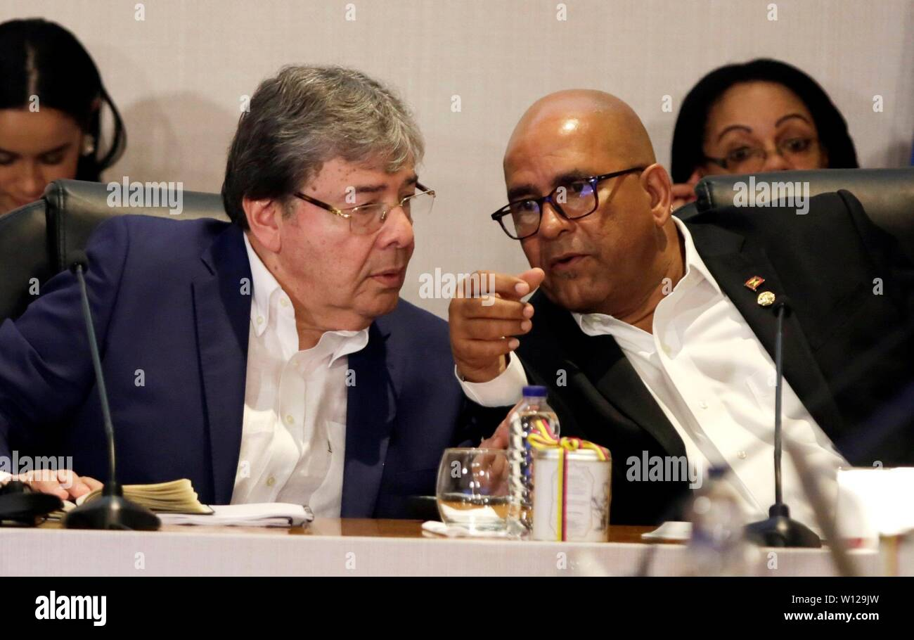 Cartagena, Colombia  29th June, 2019  Colombian Foreign Minister