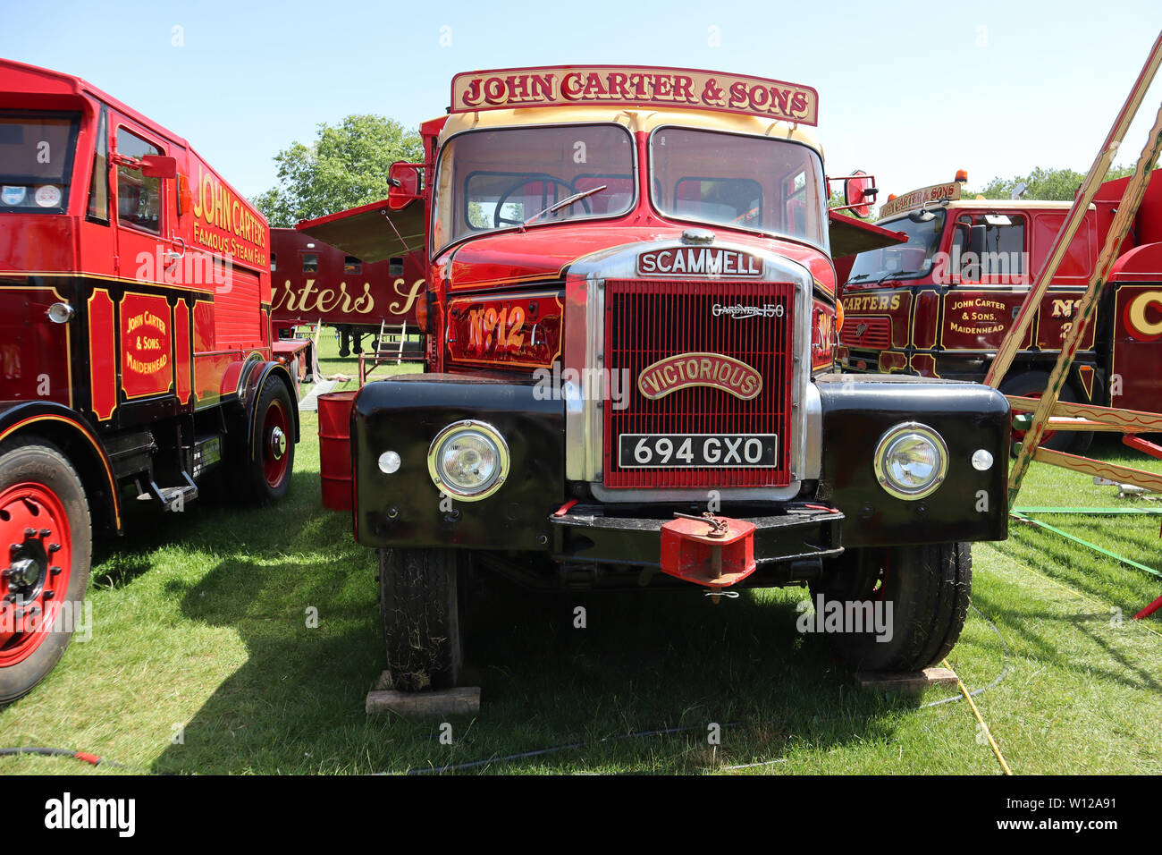Scammell Lorry Truck, Carters Steam Fair, Peckham Rye Common, London, UK, 29 June 2019, Photo by Richard Goldschmidt - Stock Image