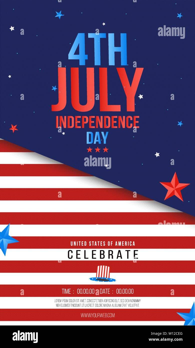 4Th Of July Flyer Template from c8.alamy.com
