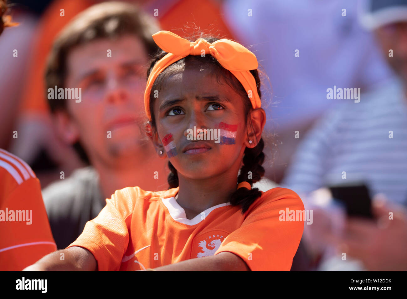 Valenciennes, France. 29th June, 2019. Supporters (Holland) during the FIFA Women's World Cup France 2019 Quarter-final match between Italy 0-2 Netherlands at Hainaut Stadium in Valenciennes, France, June29, 2019. Credit: Maurizio Borsari/AFLO/Alamy Live News Stock Photo