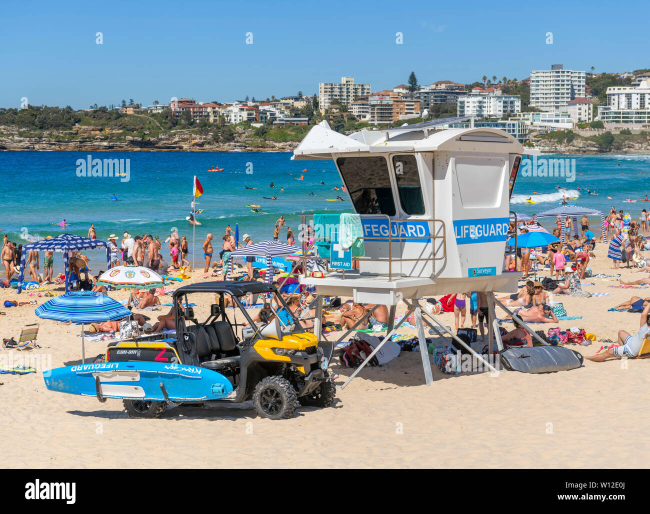 Lifeguard Hut On Bondi Beach Sydney New South Wales Australia Stock Photo Alamy