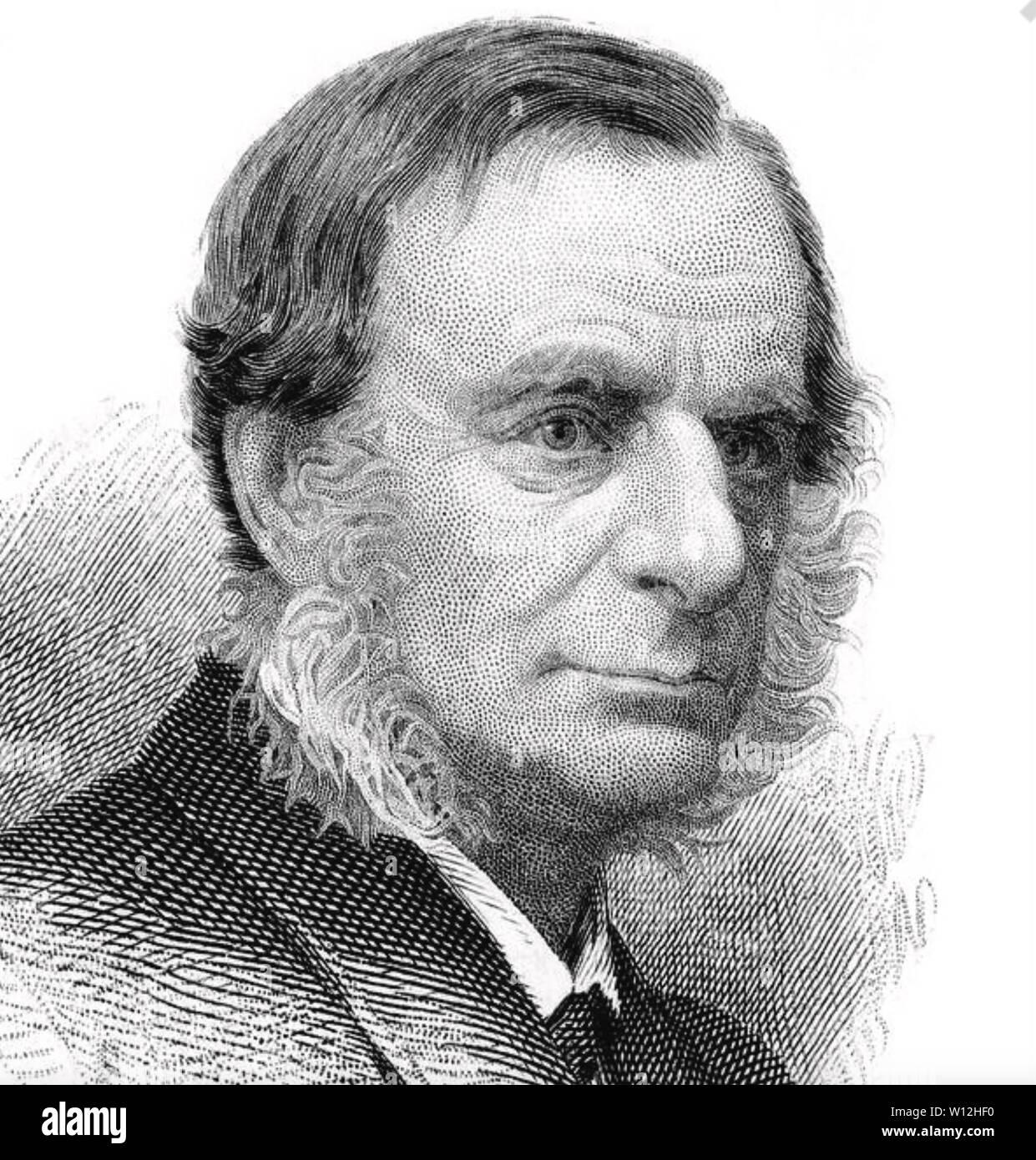 CHARLES KINGSLEY (1819-1875) English novelist and social reformer - Stock Image
