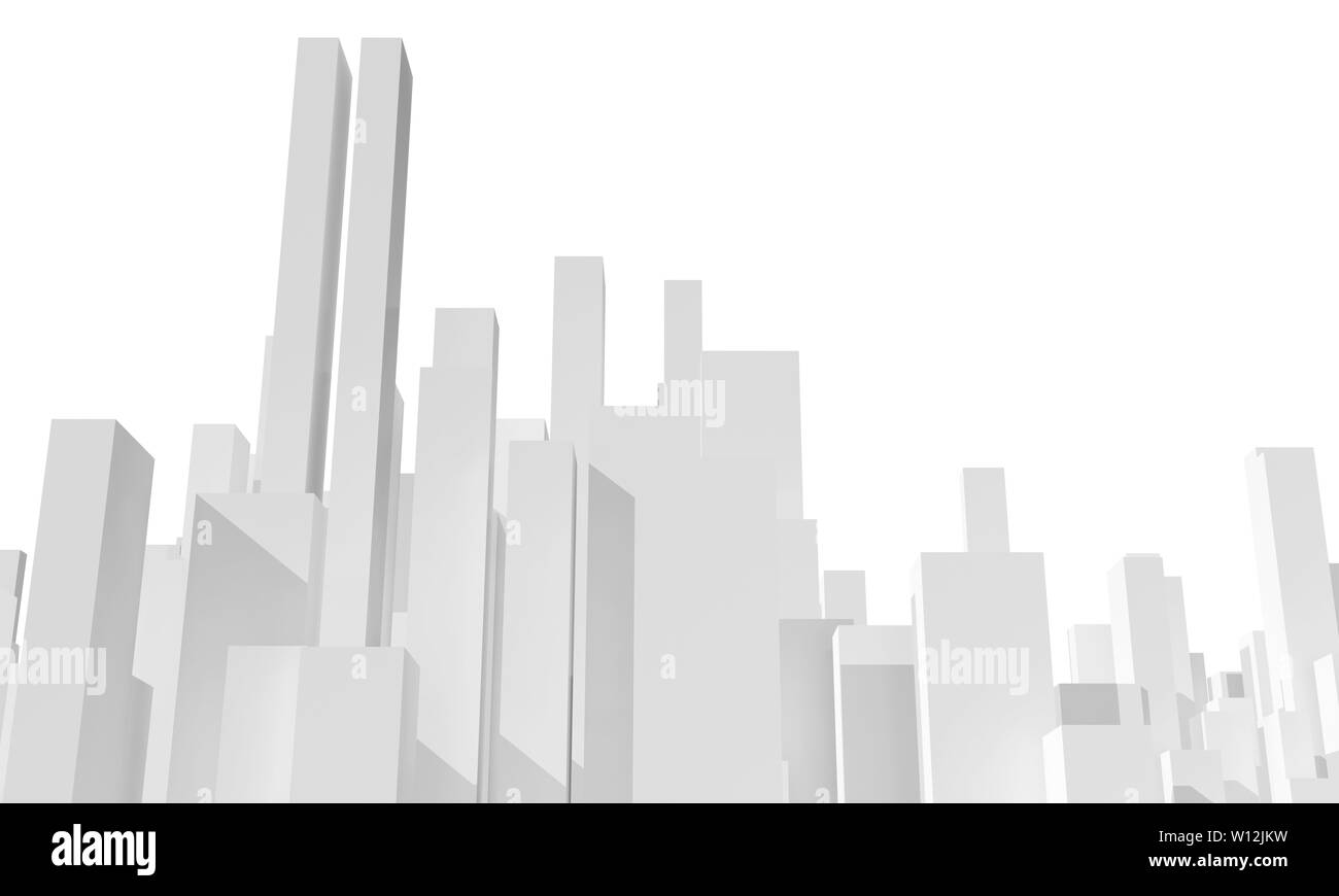 Abstract Cityscape 3d Model Isolated Stock Photos & Abstract