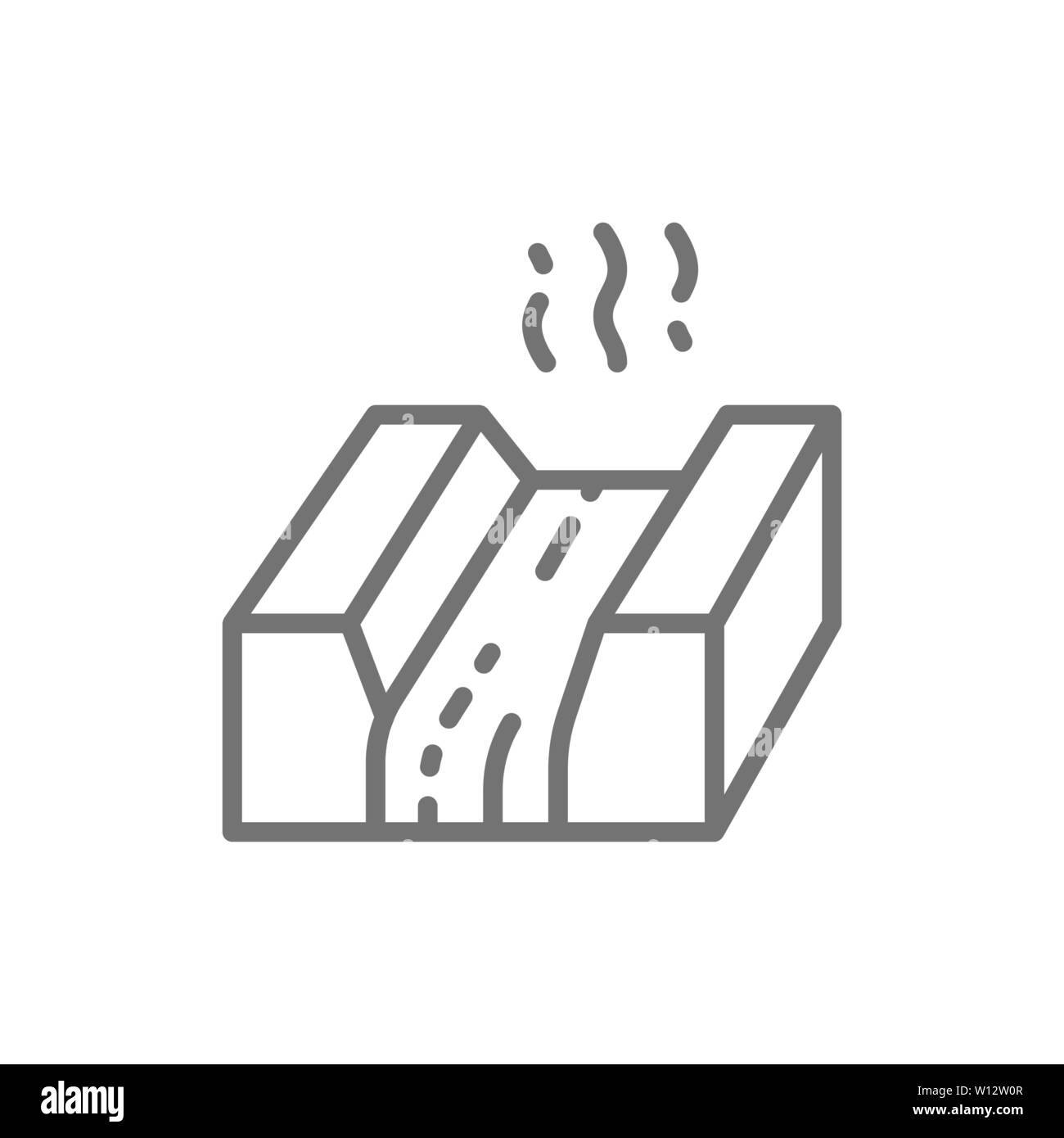Molten metal, lava, magma, metallurgy industry line icon Stock Vector Image  & Art - Alamy