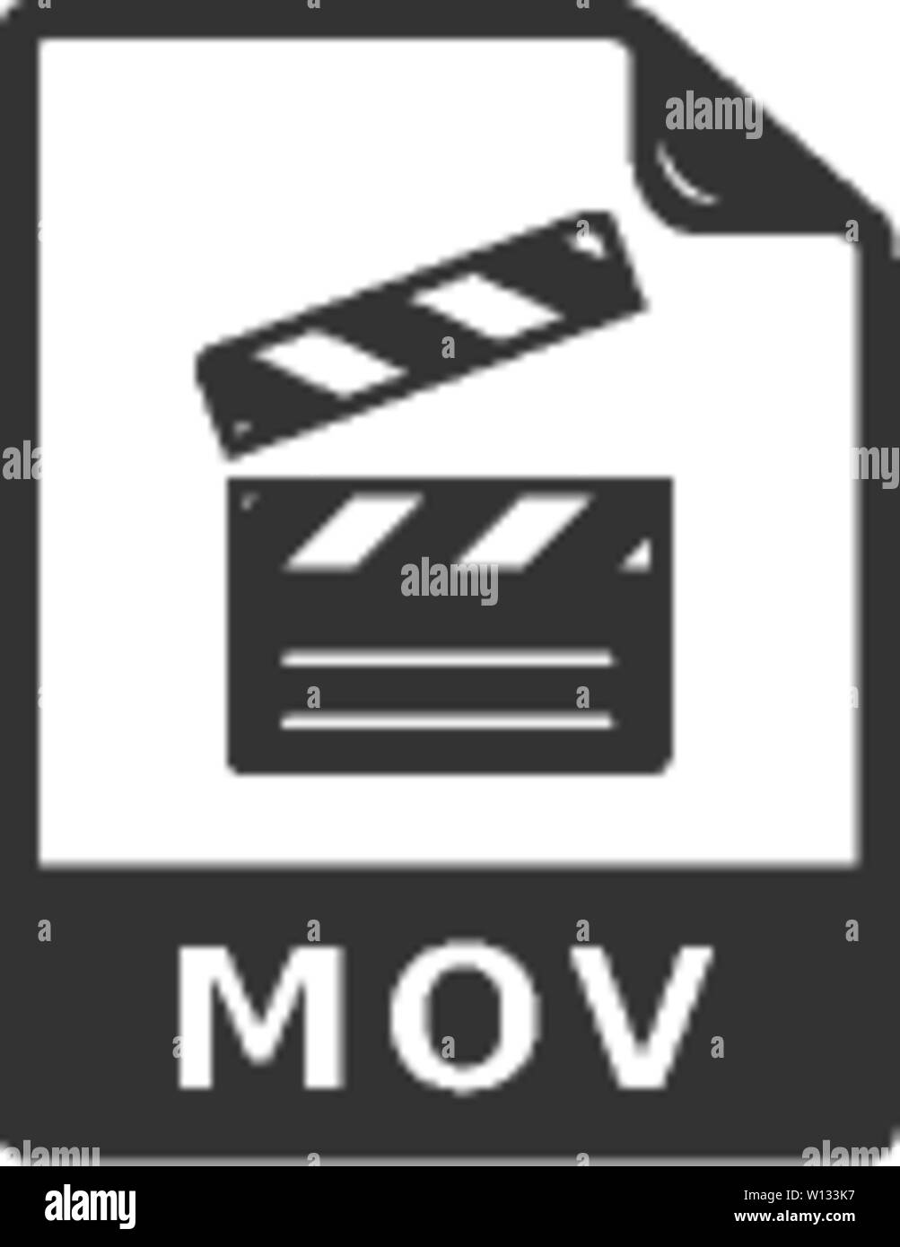 Video file format icon in single grey color  Computer data