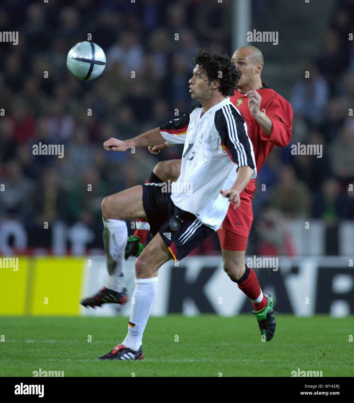 Rhein-Energie-Stadion Cologne Germany, 31.3.2004, Football: International friendly, Germany (white) vs. Belgium (red) 3:0 --- Michael BALLACK (GER) - Stock Image