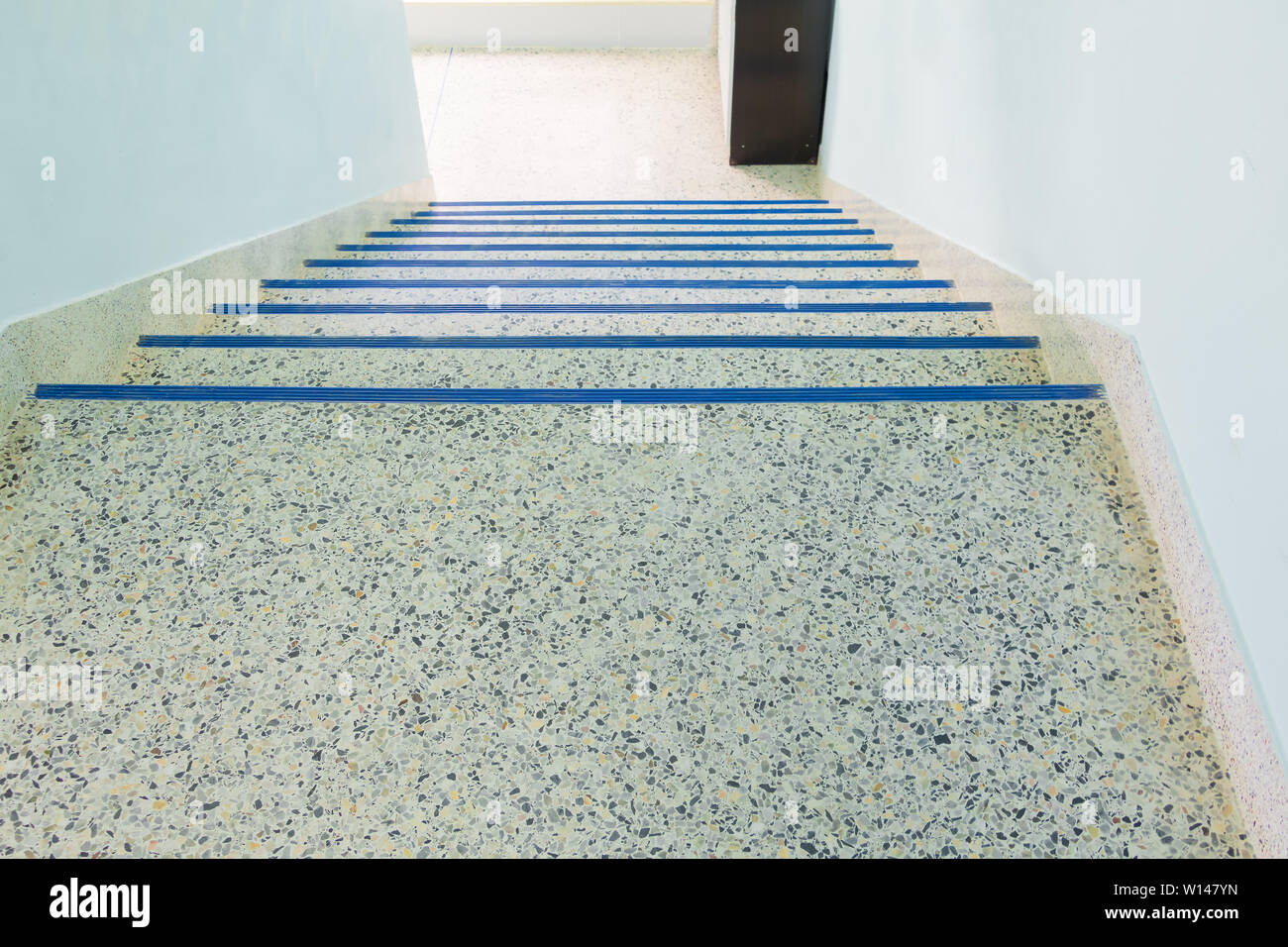 Stairs Walkway Down Terrazzo Floor Select Focus With