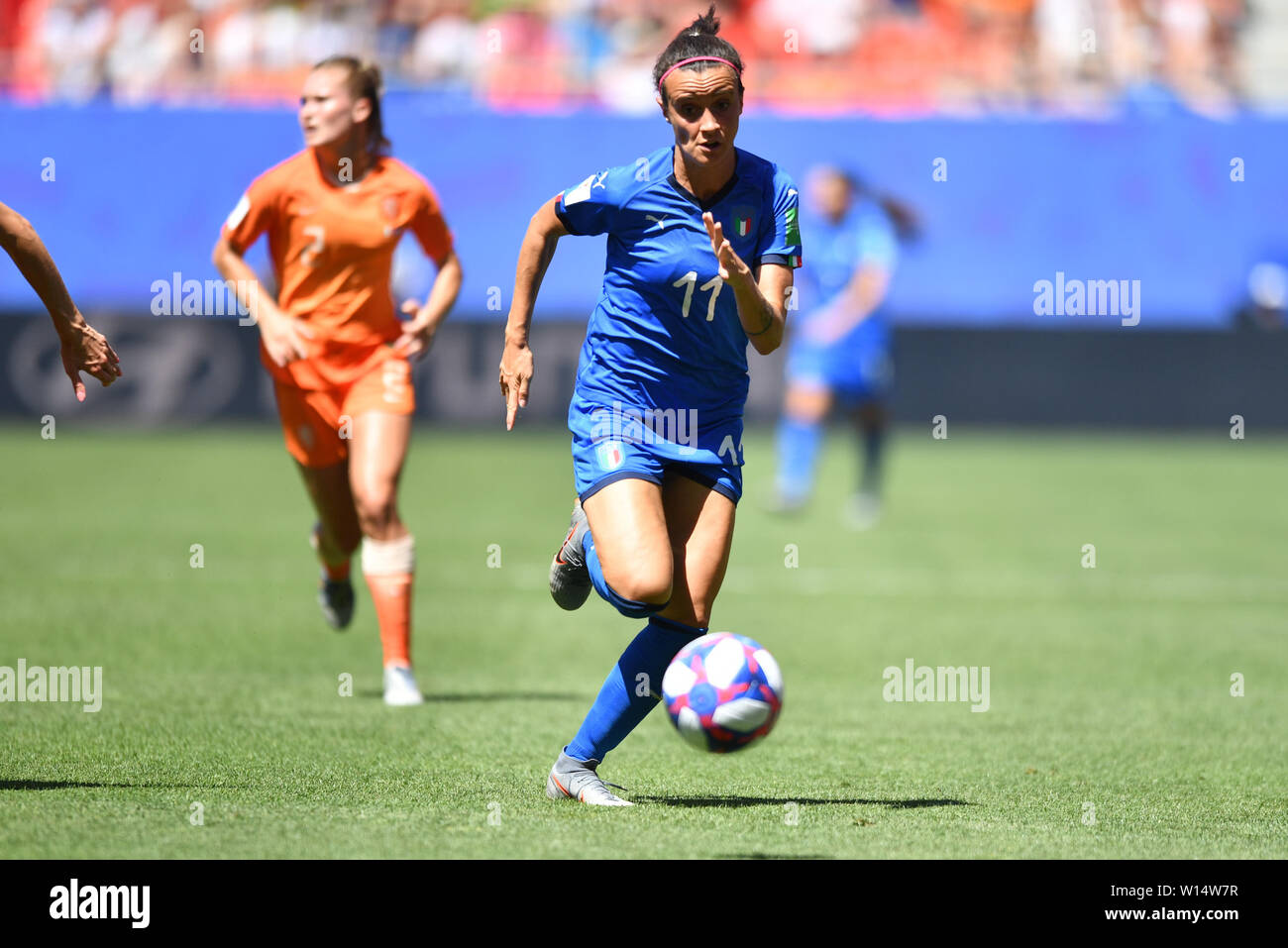 Barbara Bonansea (Italy) (11) with Ball in the run-up, 29.06.2019, Valenciennes (France), Football, FIFA Women's World Cup 2019, Quarter-finals Italy - Netherlands, FIFA REGULATIONS PROHIBIT ANY USE OF PHOTOGRAPH AS IMAGE SEQUENCES AND / OR QUASI VIDEO. | usage worldwide Stock Photo