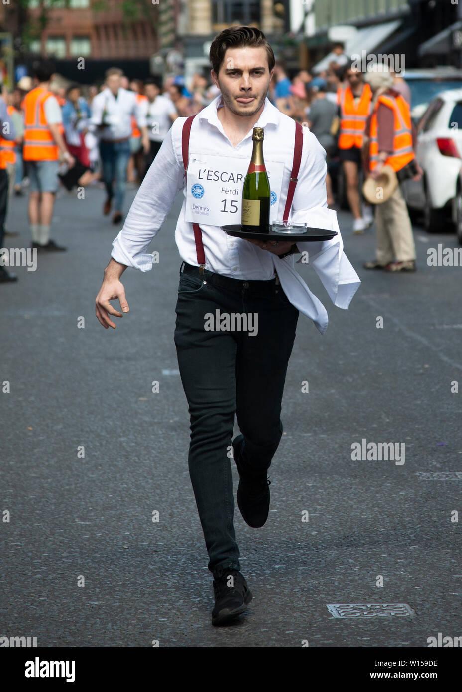 Soho Waiters Race 2019 - Stock Image