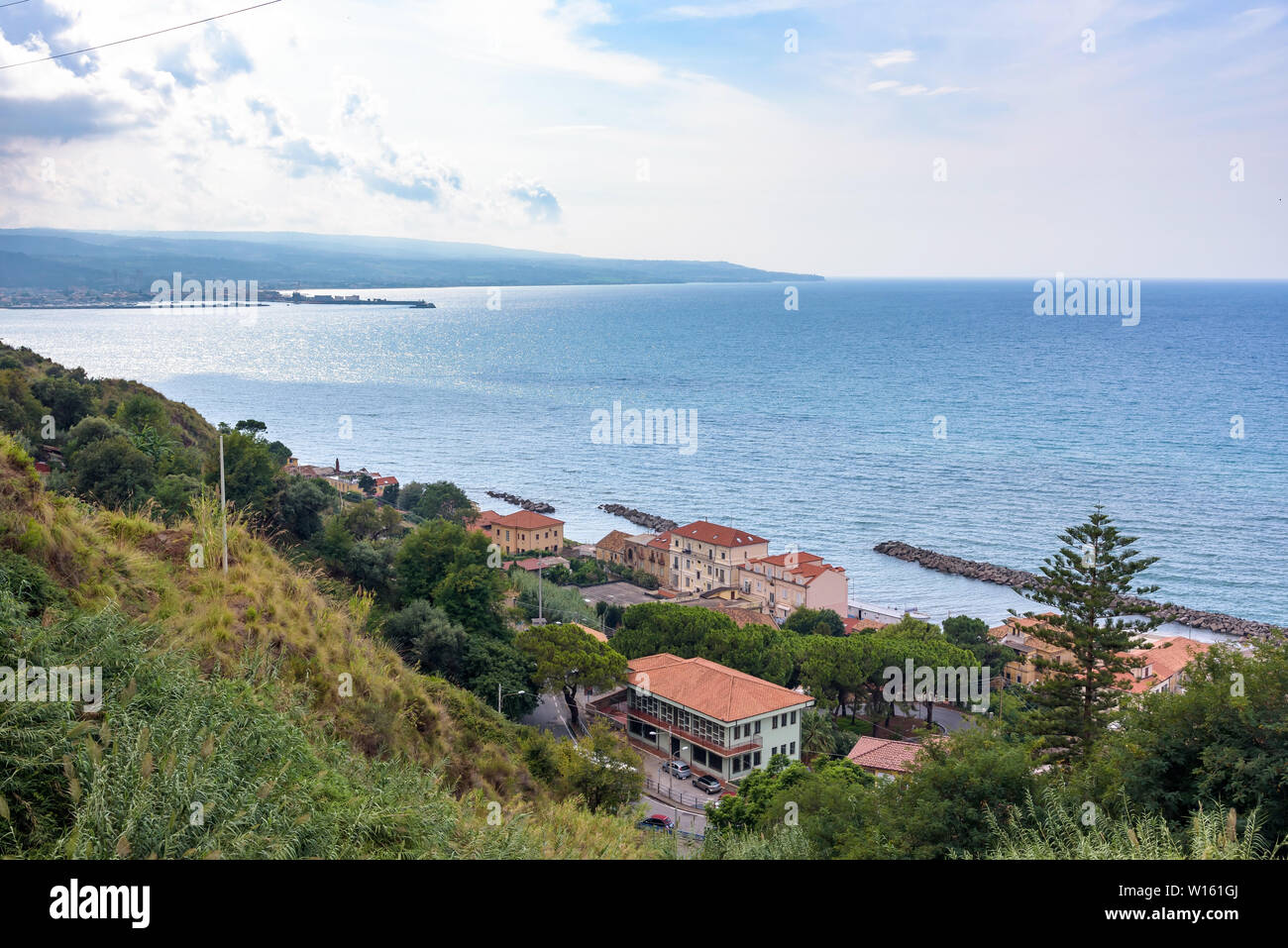 View of Calabrian coast in Pizzo town, Italy Stock Photo