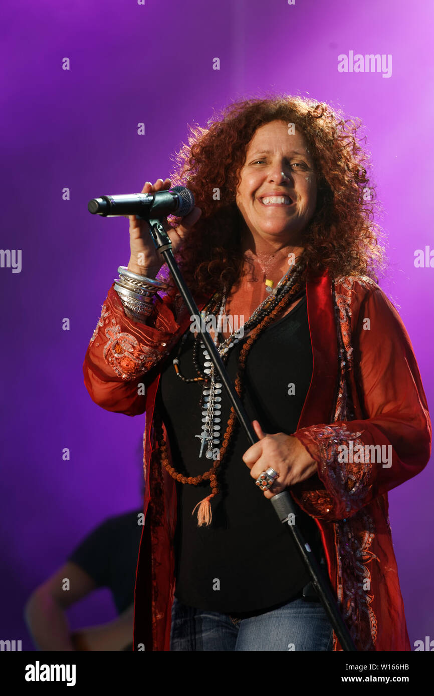 Quebec, Canada  Blues singer Angel Forrest performs on stage in