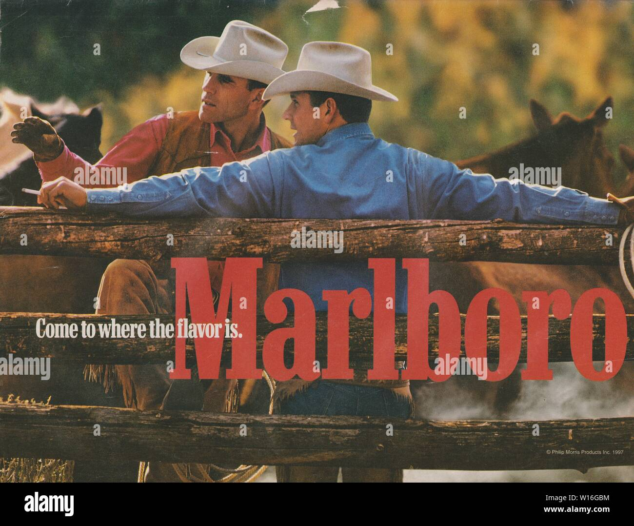Marlboro Advertisement Stock Photos & Marlboro Advertisement