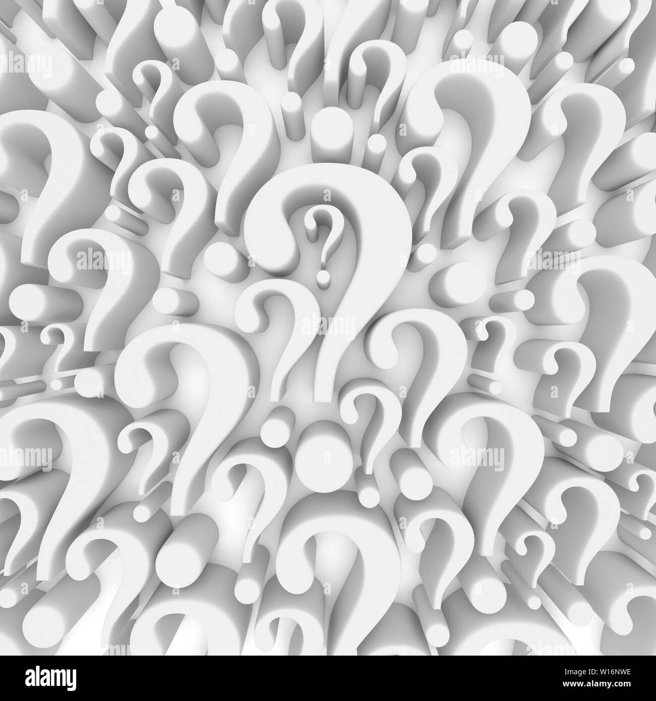 Question mark background - 3d render - Stock Image