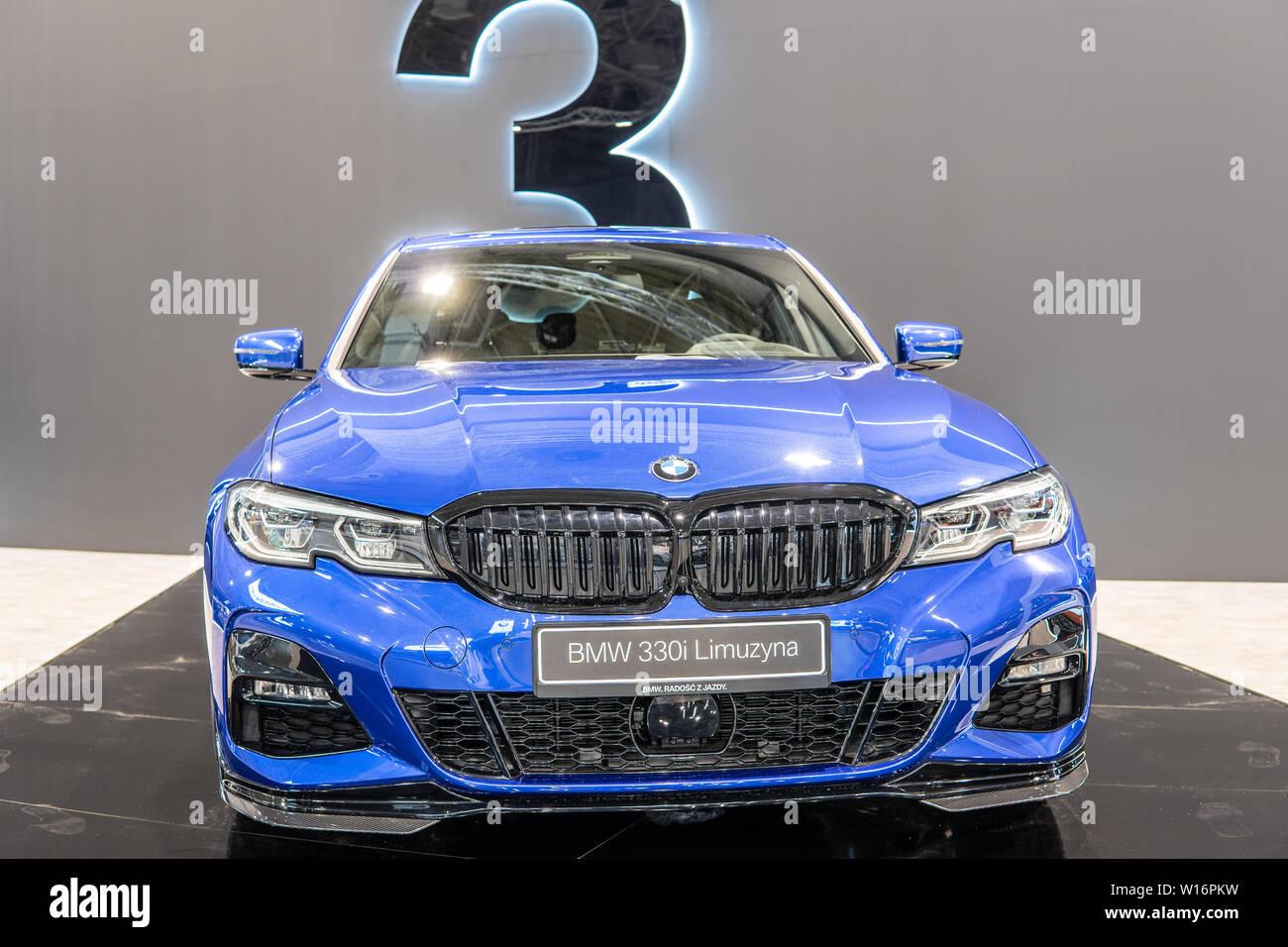 Poznan Poland Mar 2019 Blue All New Bmw 3 Series Sedan Limousine