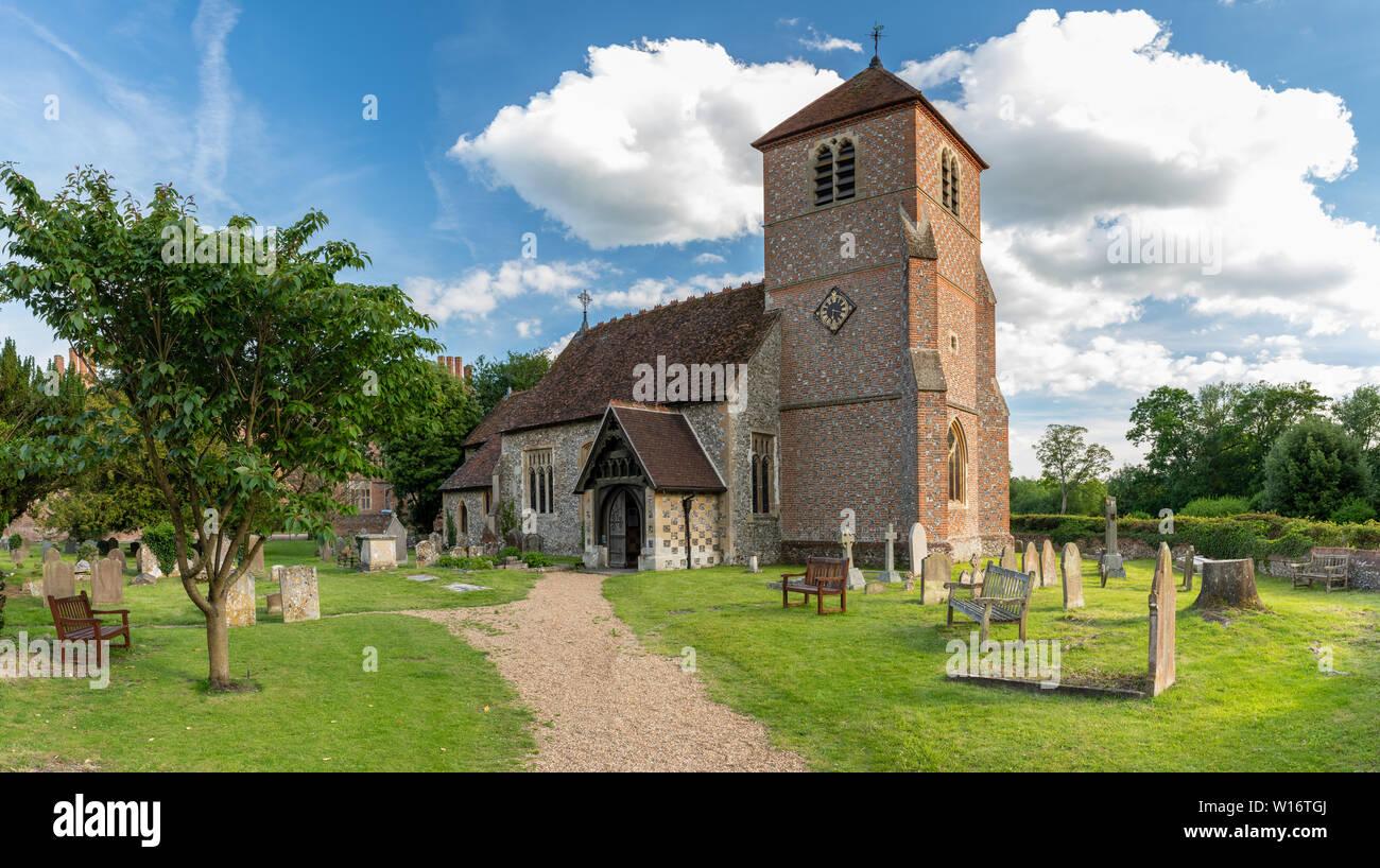 St Margaret Church Mapledurham , Oxfordshire, England, United Kingdom - Stock Image