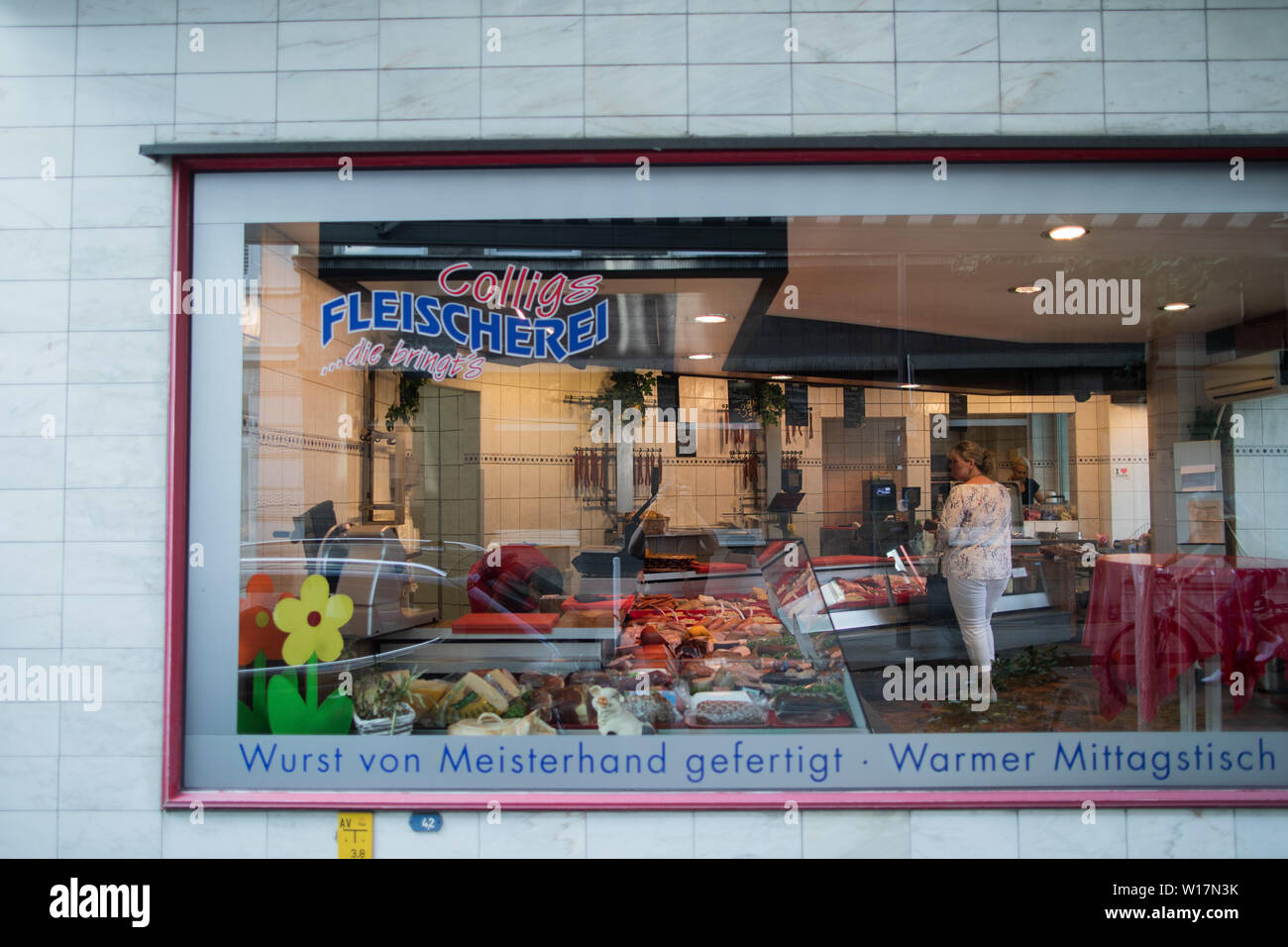 Essen, Germany  28th June, 2019  View of the Colligs butcher