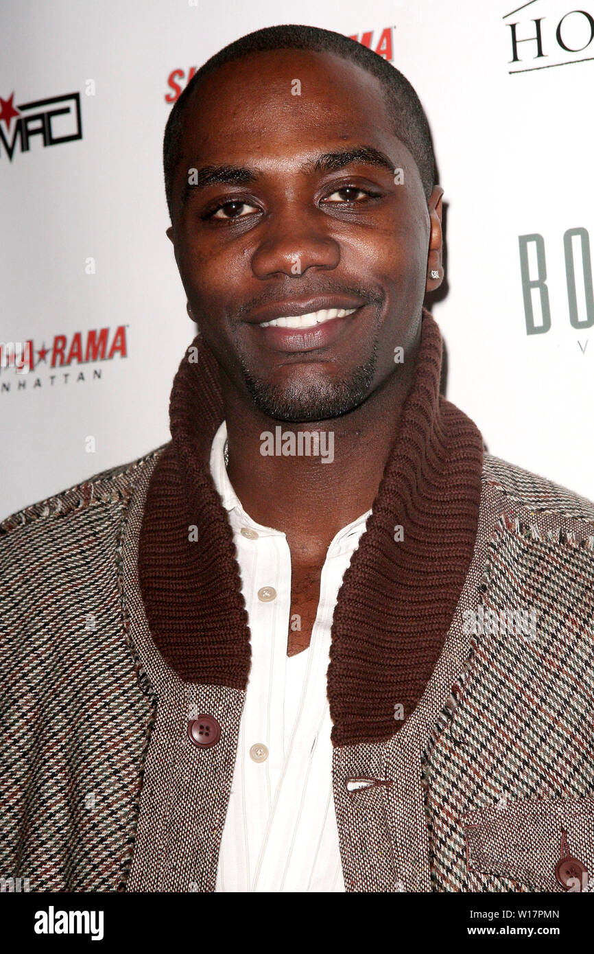 New York, USA. 17 December, 2008. NaShawn Kearse at the Celebration for Patty Laurent's birthday at Home. Credit: Steve Mack/Alamy - Stock Image