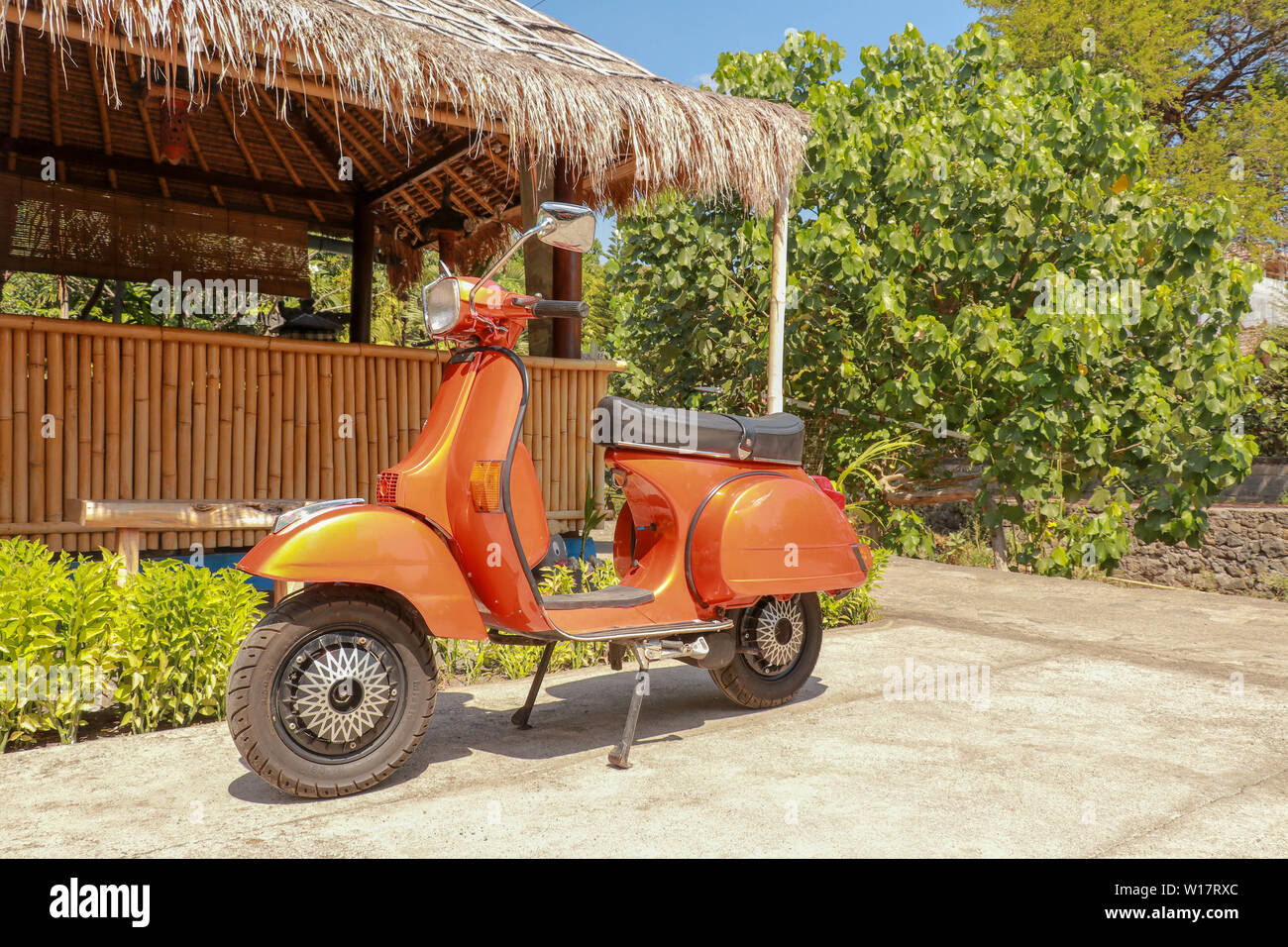 Orange Moped Stock S & Orange Moped Stock Alamy