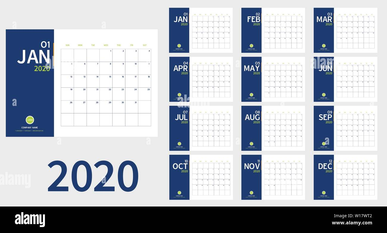 Calendario 2020 Chile Vector.Planner Vectors Stock Photos Planner Vectors Stock Images