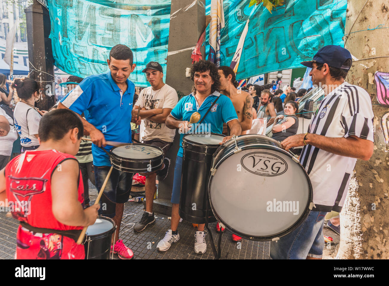 Buenos Aires, Argentina - March 24, 2017: People at Memory day for dictatorship - Stock Image